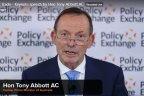 Former Australian PM Tony Abbott, now a trade representative for the British government, speaking at UK think tank Policy Exchange.