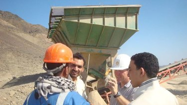 Workers at the Abu Dabbab mine.