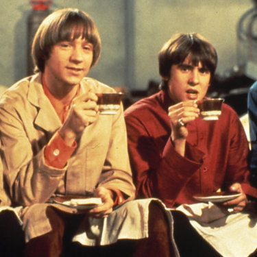 The Monkees (Nez, Peter Tork, Davy Jones and Micky Dolenz) during the band's heyday.