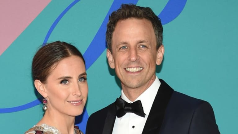 Alexi Ashe, left, and Seth Meyers at a charity event last year.