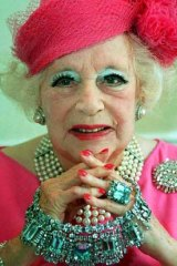 Not telling: the late Dame Barbara Cartland.
