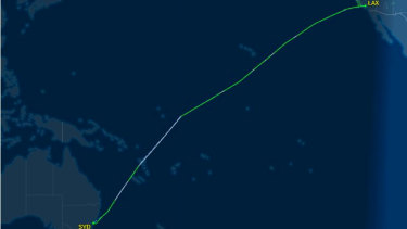 United Airlines flight UA839 landed at Sydney Airport after issuing a mayday call.