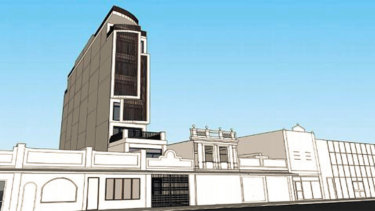 A drawing of the proposed eight-storey house on Barkly Street, Footscray.