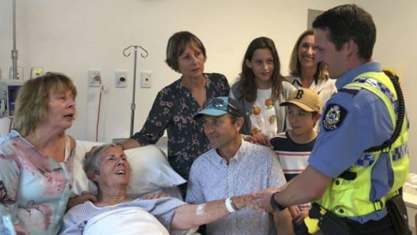 Elderly tourist thanks WA saviour after bush ordeal