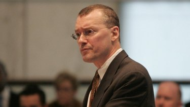 The lawyer David  Buckel in New Jersey Supreme Court during a 2006 case about same-sex marriage.