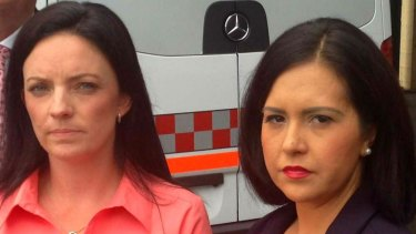 Prue Car (right) declined to comment on the allegations made by Emma Husar (left).