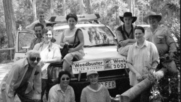 John Sinclair (far right) with the Fraser Island Defenders Organisation in 2002.