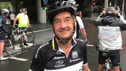 'Life is for living': Brisbane man's 100-kilometre bike ride for 80th