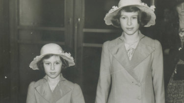 Princess Elizabeth and Princess Margaret Rose seen arriving at the International Horse Show at London Olympia on June 22, 1939.