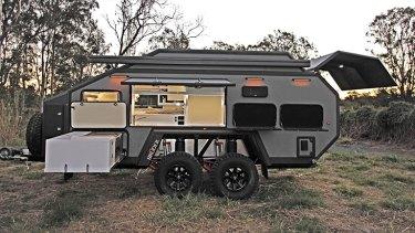 An EXP-6 camper-trailer from Brisbane-based manufacturer Bruder.