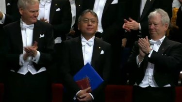 Kazuo Ishiguro receives his Nobel in 2017.