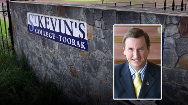 St Kevin's College and former principal Stephen Russell.