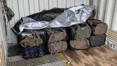 Bags of what police allege were full of cocaine were seized.