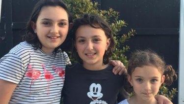 The Schofield sisters Georgia, Kali and Catherine.