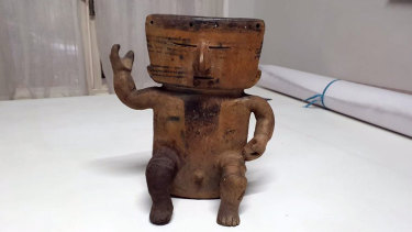 Police in Rio de Janeiro, Brazil, seized a number of pre-Columbian items, some from the Jama Coaque culture known for its elaborate ceramic figurines and vessels depicting human beings and animals.