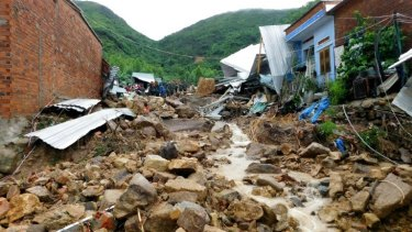 Heavy rains triggered landslides in southern Vietman.