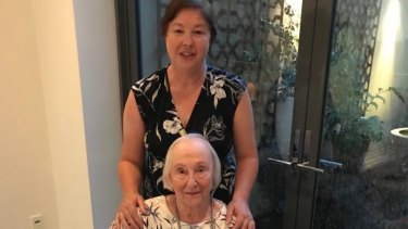 Janet McGarry's 88-year-old mother Pauline luckily stayed in a spare room at her nephew's after the celebrations and avoided the crush.