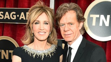 Felicity Huffman, pictured with William H. Macy, was among 33 parents charged as part of the alleged fraud scheme.
