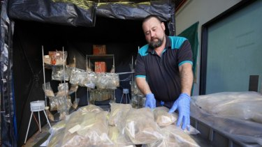 The MDMA powder seized by Queensland police could have made up to 12 million ecstasy tablets.