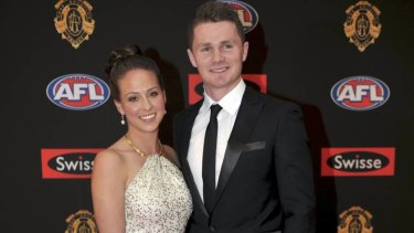 Patrick Dangerfield and wife Mardi.