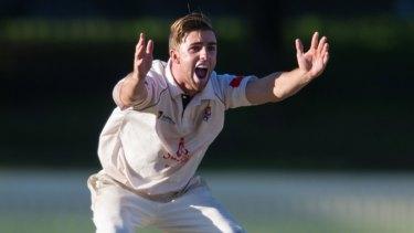 Leg-spinner Devlin Malone has taken 63 wickets in first grade this season.