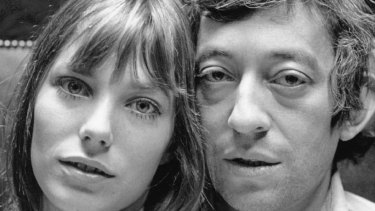 English actress Jane Birkin and French musician Serge Gainsbourg at home in Paris.