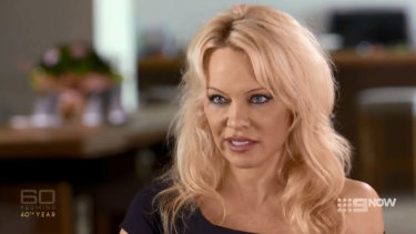 Pamela Anderson discussed her relationship with Julian Assange on 60 Minutes.