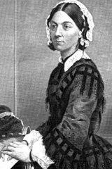 Wartime nurse Florence Nightingale.