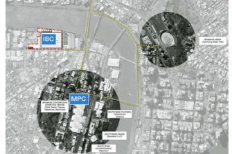 The IOC's International Host Commission's report shows the 2032 International Broadcasting Centre on Montague Road at South Brisbane.