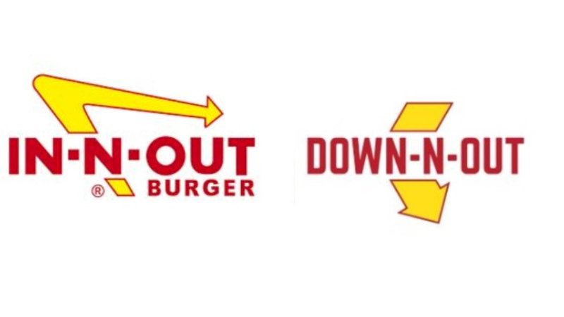 Logos de In-N-Out y Down N' Out