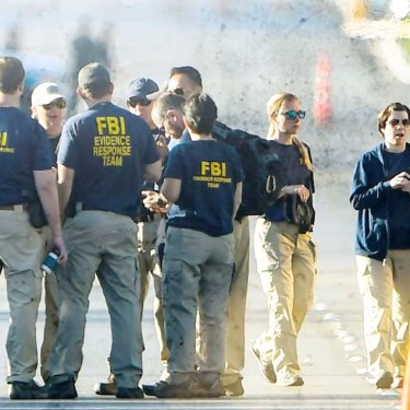 FBI agents worked around the clock to gather evidence after the Las Vegas shooting, in which 60 people were gunned down.