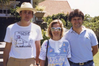 David Hooper QC (left) with Lucy and Malcolm Turnbull in the 1980s. Mr Hooper hired Mr Turnbull to fight the British government's attempt to ban the publication of Spycatcher.