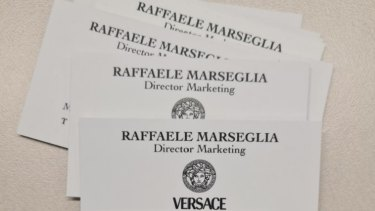 The business cards found in the Five Dock unit.