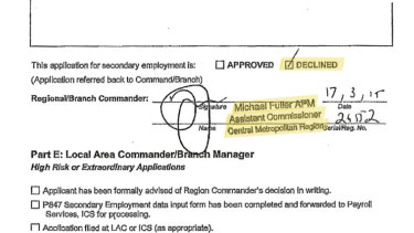Fuller's signature is clearly seen on the document.