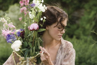 Keira Knightley makes the most of the garden in 'Atonement'.
