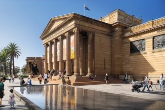 The revamped forecourt of the Art Gallery of NSW.