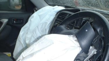 A Takata airbag in a SUV.
