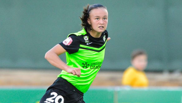 Teenage Canberra United star Amy Sayer hopes to launch World Cup hopes