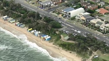 A large area of the beach was evacuated while police investigated the discovery.