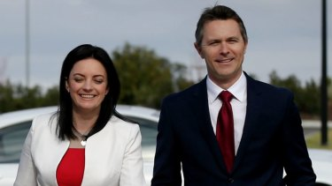 Emma Husar and Jason Clare in June 2016.