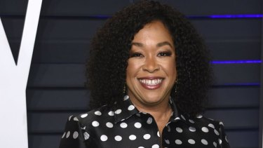 The most powerful woman in Hollywood, writer-producer Shonda Rhimes.