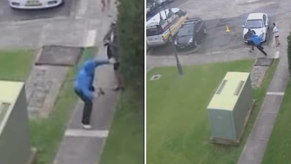 'Like the devil himself': CCTV captured Wollongong axe attack