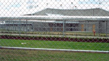 An officer has been struck in the face at the Woodford Correctional Centre.