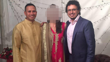Cricketer Usman Khawaja, left, with brother Arsalan Khawaja.