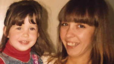 Sonya Szala with her brother's daughter, Amanda, about 28 years ago.