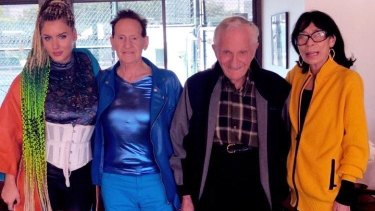 Edelsten and Grecko with friends in LA on Sunday.
