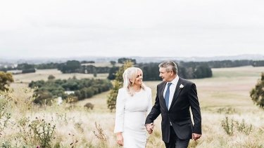 Taxi! Samantha Armytage and Richard Lavender tie the knot.