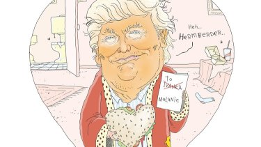 One of Jason Chatfield's cartoons in MAD, a depiction of US President Donald Trump.