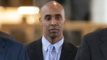 Mohamed Noor walks into the Hennepin County Courthouse on Tuesday.