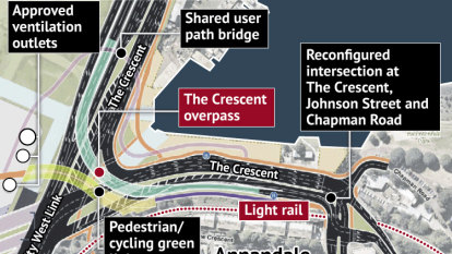 'Worse than Cahill Expressway': new WestConnex overpass condemned